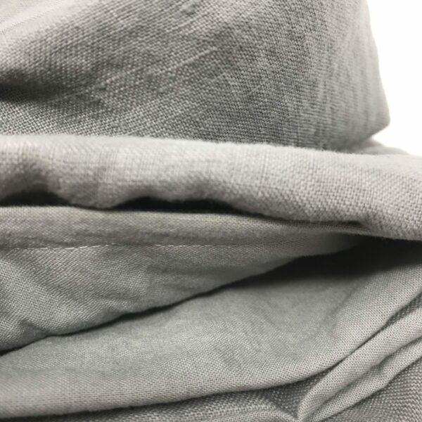 """""""Baguio"""" Parure Copripiumino in lino e cotone di qualitá made in Italy, sinogolo e matrimoniale, colore baguio grigio"""