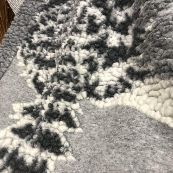 Wolldecke Waldmotiv, Farbe grau, Chalet und Landhausstil
